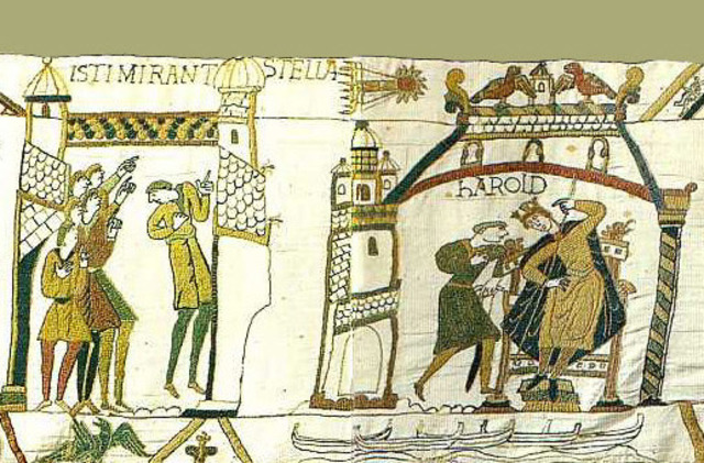 An image of the Bayeux Tapestry.